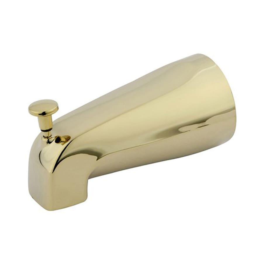Elements of Design Polished Brass Bathtub Spout with Diverter