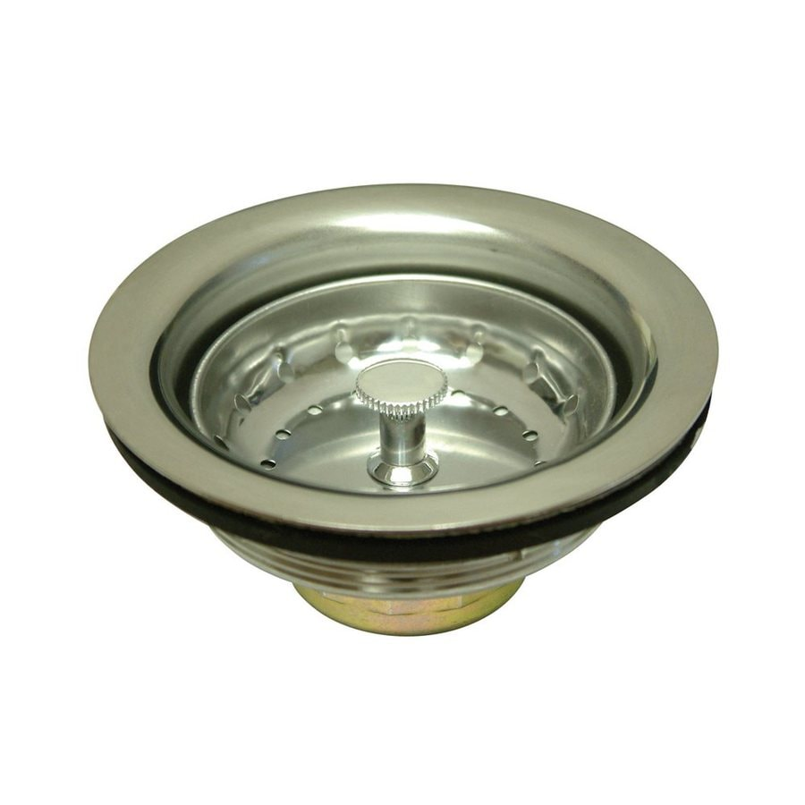 Elements of Design 3.5-in Brushed Nickel Stainless Steel Kitchen Sink Strainer Basket