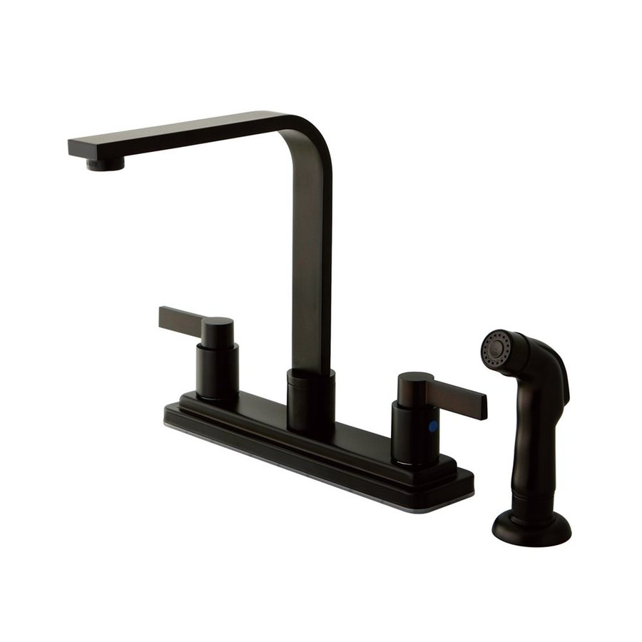 Elements of Design Nuvofusion Oil Rubbed Bronze 2-Handle High-Arc Kitchen Faucet