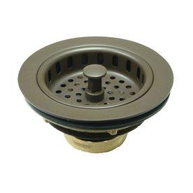 Elements Of Design 4.5 In Oil Rubbed Bronze Brass Twist And Lock Kitchen  Sink Strainer