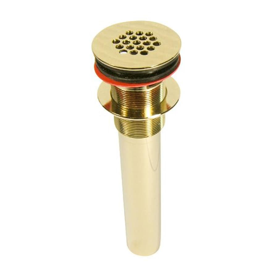 Elements of Design Fauceture Gold Brass Grid Drain