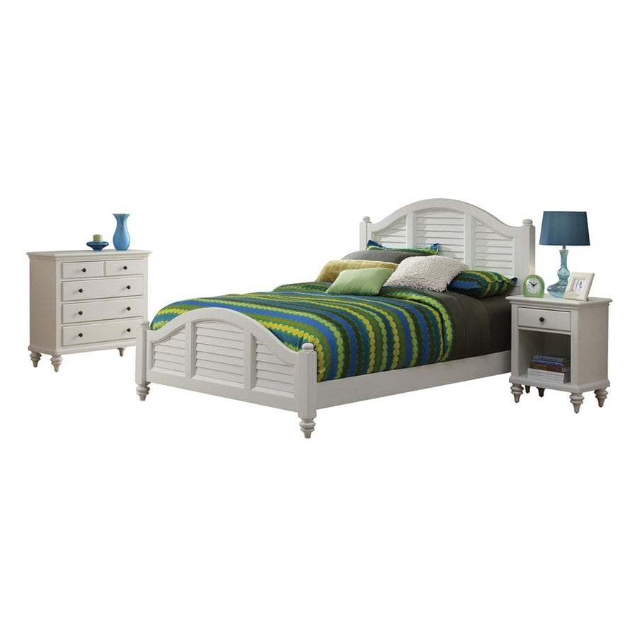 Home Styles Bermuda Brushed White King Bedroom Set