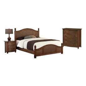 Home Styles Marco Island Refined Cinnamon Queen Bedroom Set