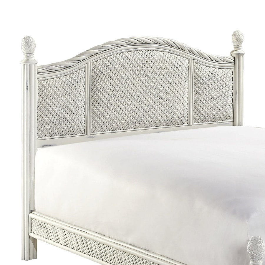 Home Styles Marco Island Weather-Worn Rubbed White Full/Queen Headboard