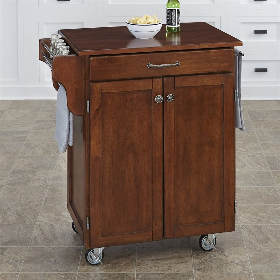 Home Styles Cherry Rectangular Kitchen Cart