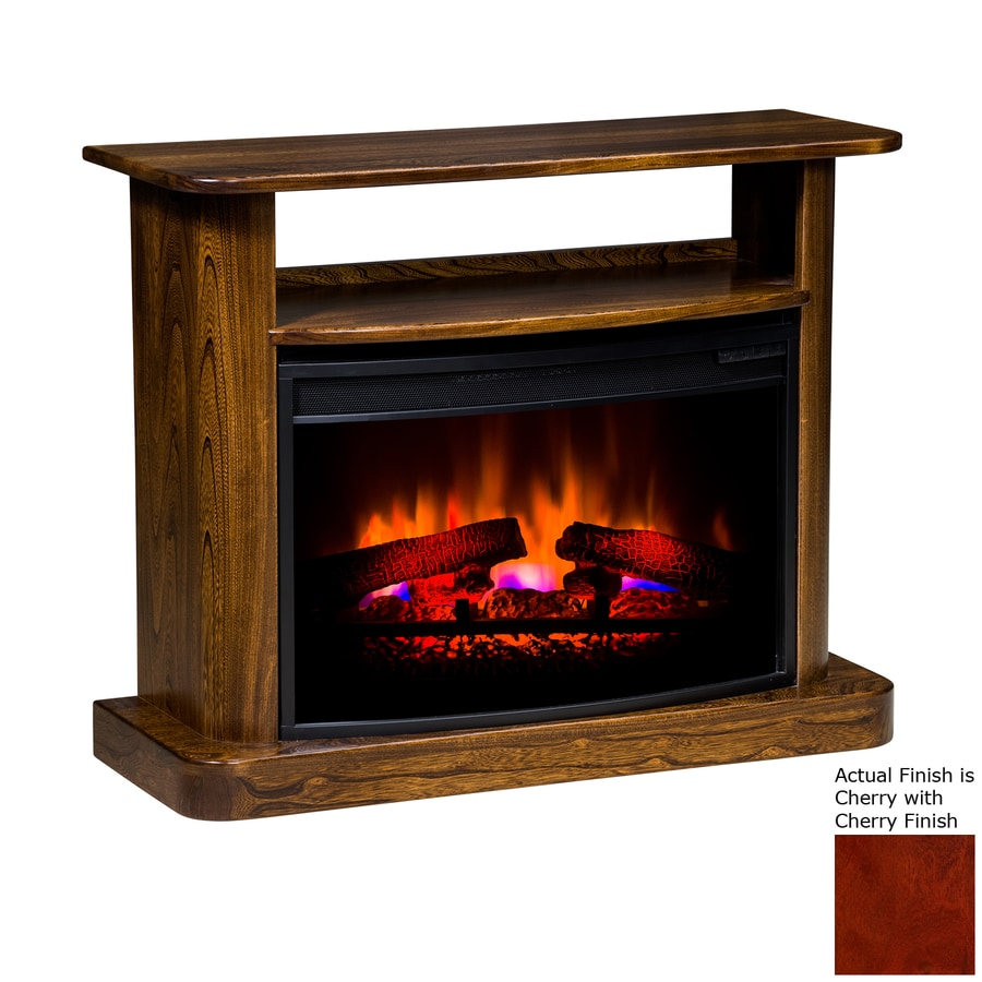 Topeka Innovative Concepts 36-in W 5200-BTU Cherry Wood LED Electric Fireplace with Thermostat and Remote Control