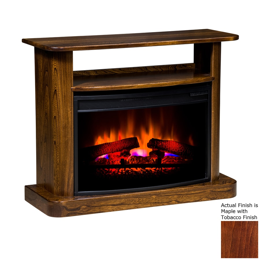 Topeka Innovative Concepts 36-in W 5200-BTU Maple/Tobacco Wood LED Electric Fireplace with Thermostat and Remote Control