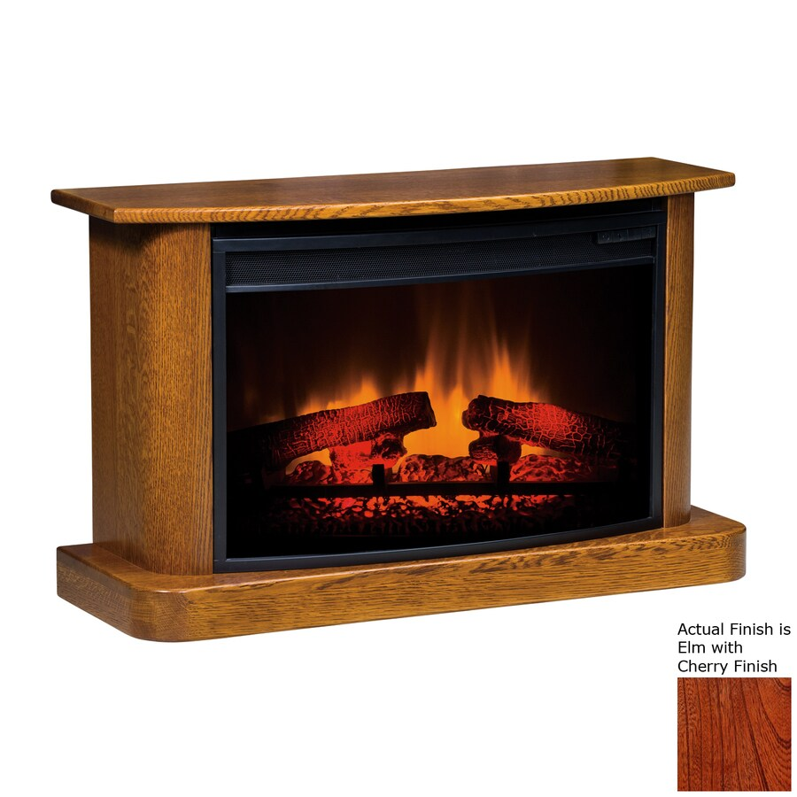 Topeka Innovative Concepts 37-in W 4770-BTU Elm with Cherry Wood LED Electric Fireplace with Thermostat and Remote Control