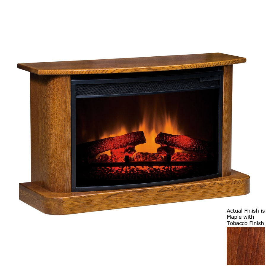 Topeka Innovative Concepts 37-in W 4770-BTU Maple with Tobacco Wood LED Electric Fireplace with Thermostat and Remote Control