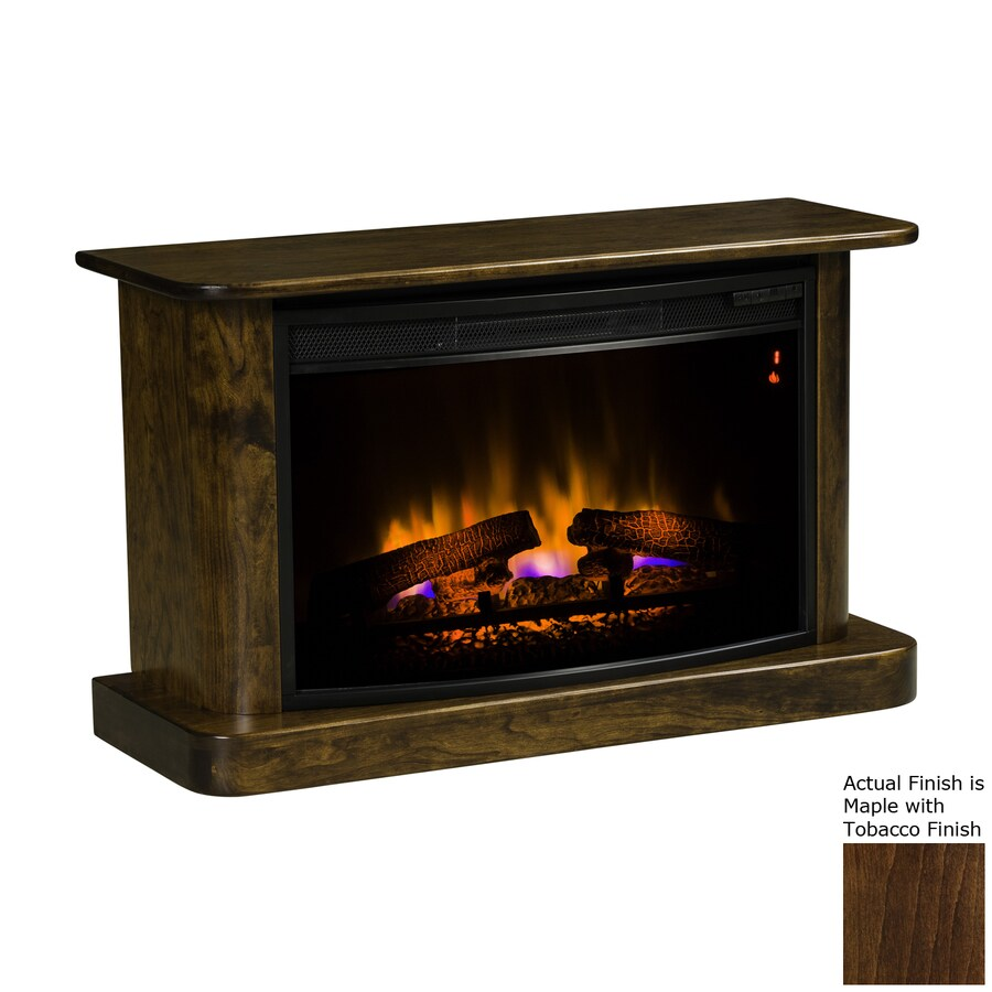 Topeka Innovative Concepts 37.5-in W 4770-BTU Maple with Tobacco Wood LED Electric Fireplace with Thermostat and Remote Control