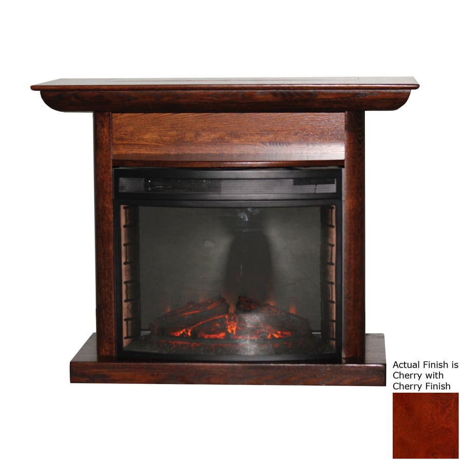 Topeka Innovative Concepts 46.5-in W 4770-BTU Cherry Wood LED Electric Fireplace with Thermostat and Remote Control
