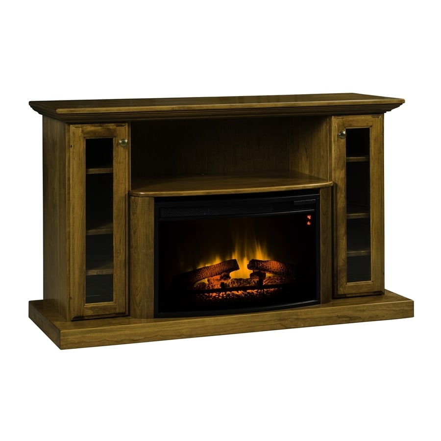Topeka Innovative Concepts 54.5-in W 5200-BTU Cherry Wood LED Electric Fireplace with Thermostat and Remote Control