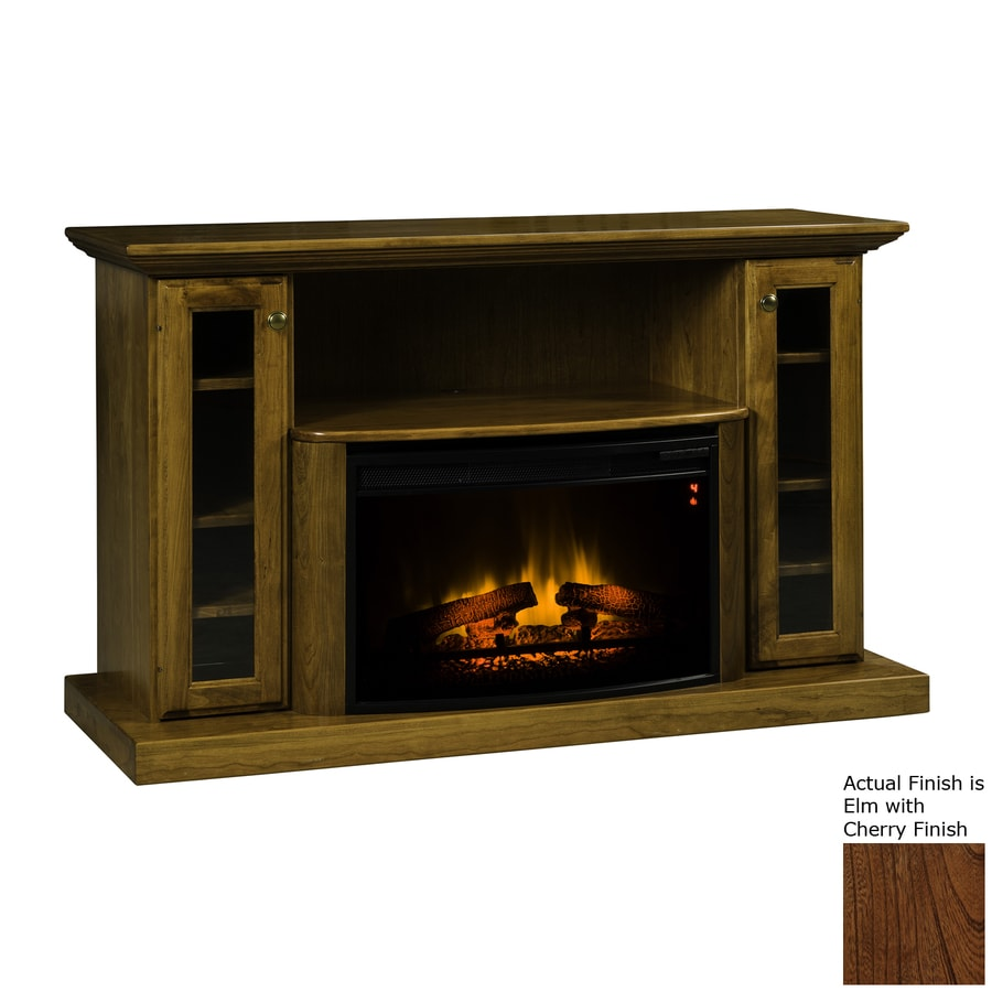 Topeka Innovative Concepts 54.5-in W 4770-BTU Elm with Cherry Wood LED Electric Fireplace with Thermostat and Remote Control