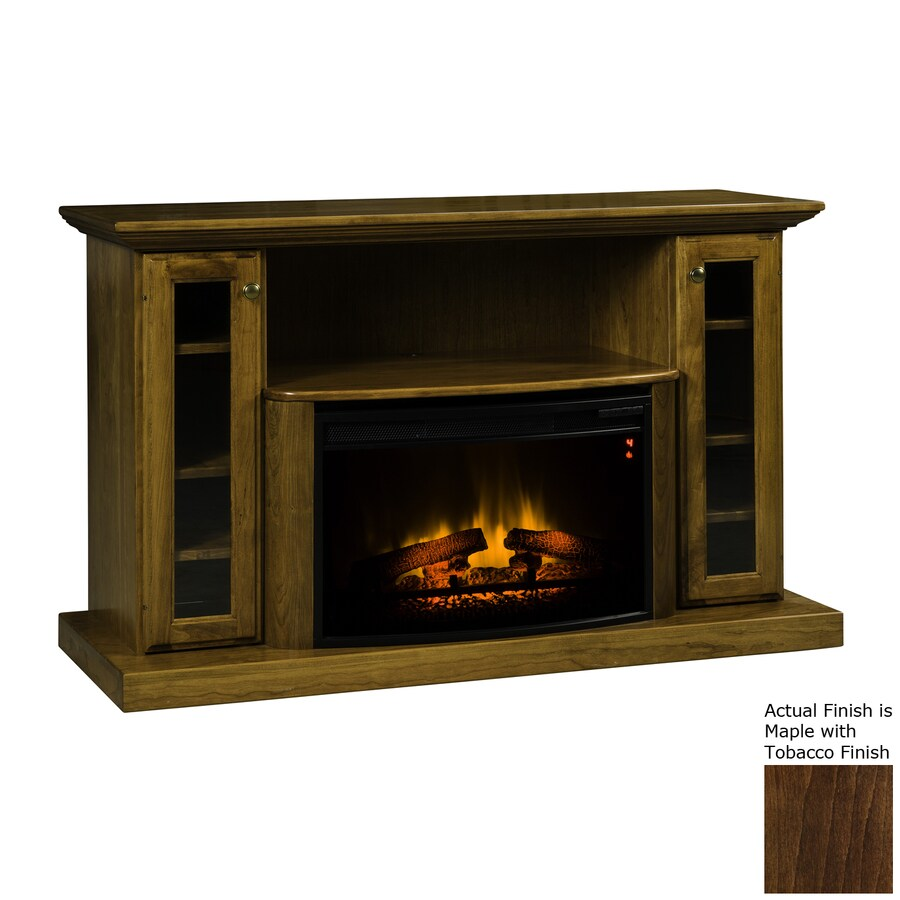 Topeka Innovative Concepts 54.5-in W 5200-BTU Maple/Tobacco Wood LED Electric Fireplace with Thermostat and Remote Control