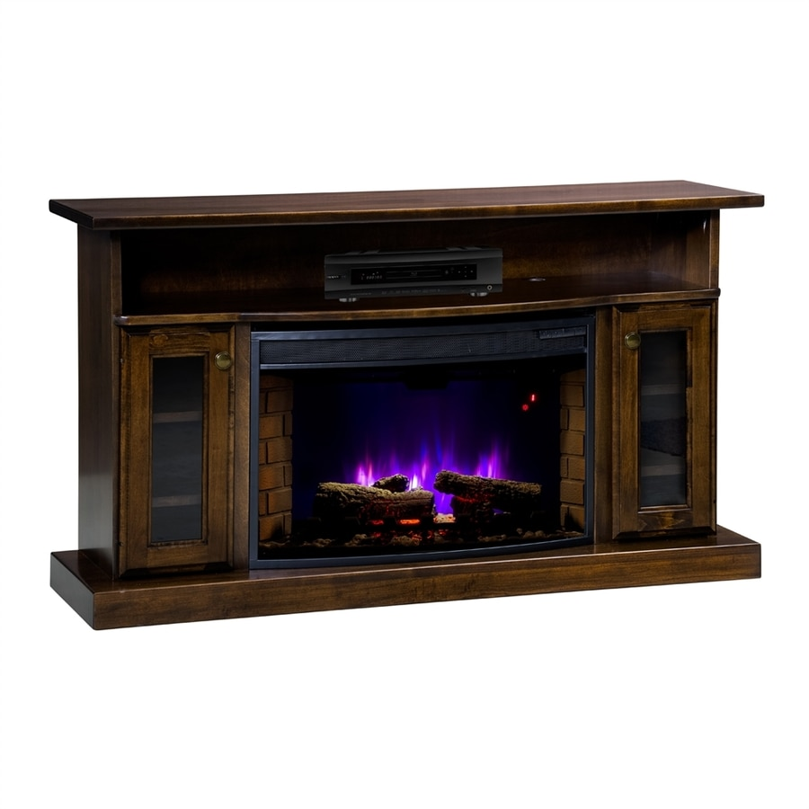 Topeka Innovative Concepts 49.5-in W 4770-BTU Maple with Tobacco Wood LED Electric Fireplace with Thermostat and Remote Control