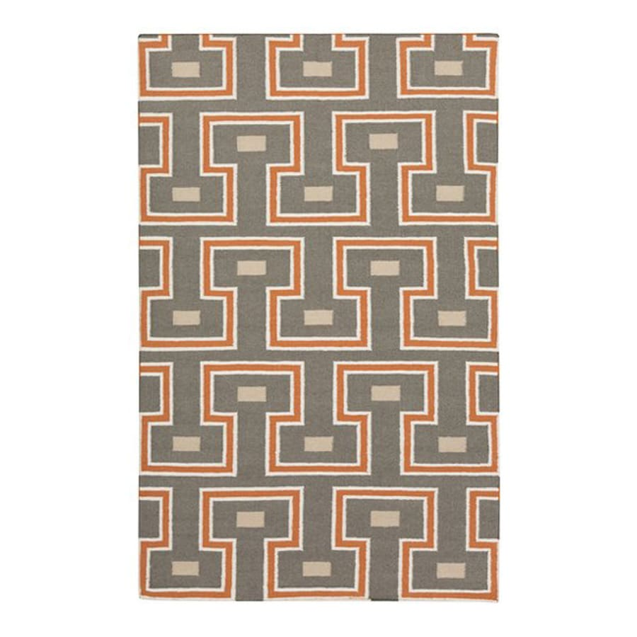 Surya Frontier Brown Rectangular Indoor Woven Area Rug (Common: 5-ft x 8-ft; Actual: 5-ft W x 8-ft L)