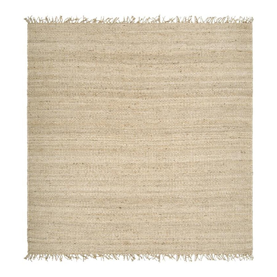 Surya Juite Cream Square Indoor Woven Area Rug (Common: 8-ft x 8-ft; Actual: 8-ft W x 8-ft L)