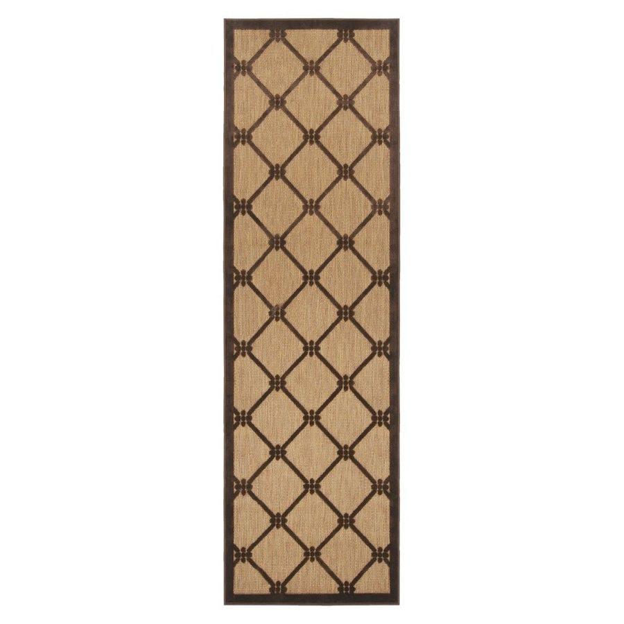 Surya Portera Brown Rectangular Indoor/Outdoor Woven Runner (Common: 3 x 8; Actual: 30-in W x 94-in L)