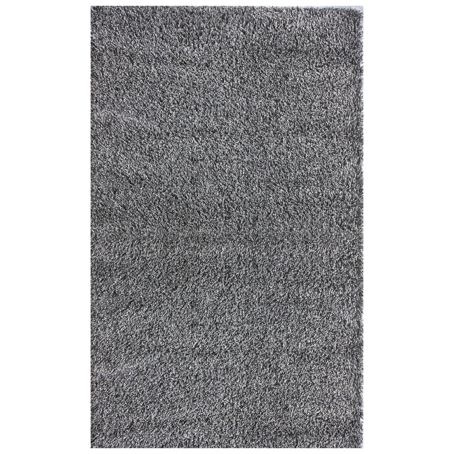 nuLOOM Gray Rectangular Indoor Shag Area Rug (Common: 7 x 9; Actual: 79-in W x 108-in)