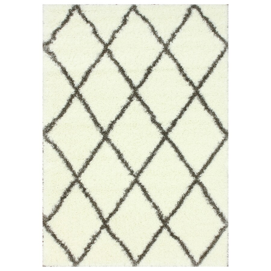 nuLOOM Brown Rectangular Indoor Shag Area Rug (Common: 7 x 9; Actual: 79-in W x 108-in)