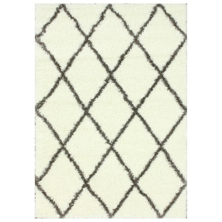 nuLOOM Brown Rectangular Indoor Shag Area Rug (Common: 8 x 10; Actual: 96-in W x 120-in)
