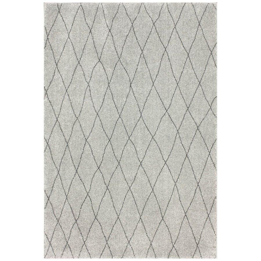 Nuloom Light Gray Rectangular Indoor Area Rug Common 5 X 8 Actual