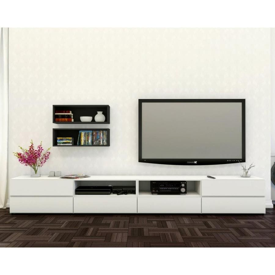 Nexera Traffic Black and White Rectangular Television Cabinet