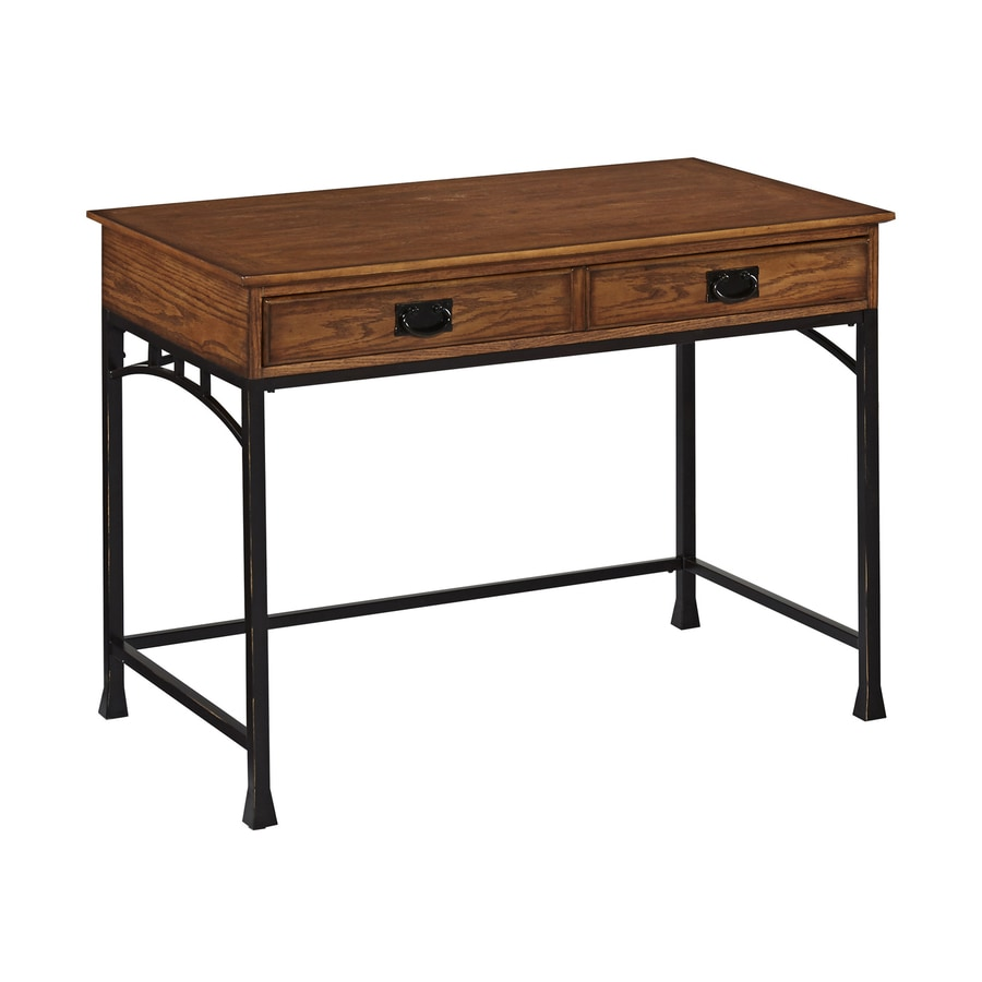 Home Styles Modern Craftsman Distressed Warm Oak Student Desk with Keyboard Tray