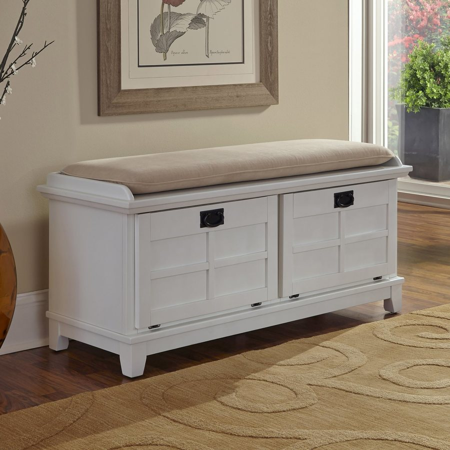 Home Styles Arts And Crafts Indoor Storage Bench