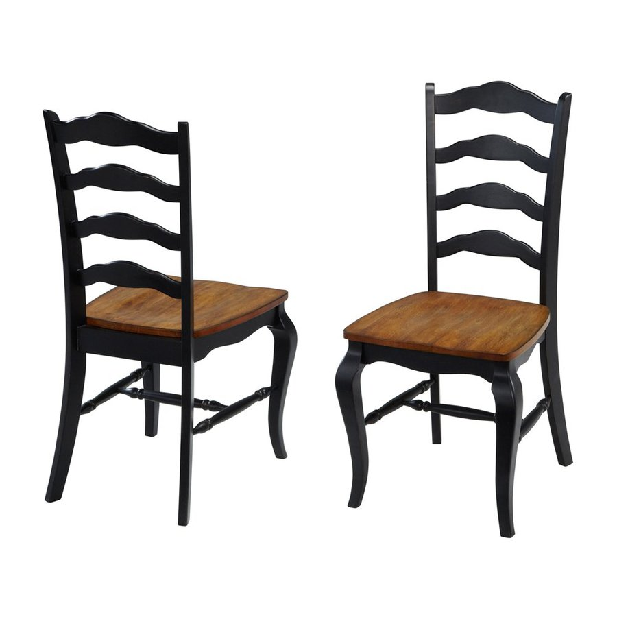 Home Styles 2 French Countryside Black/Oak Side Chair