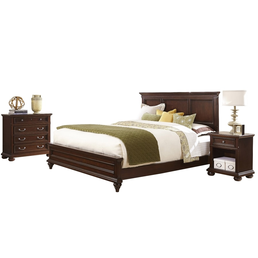 shop home styles colonial classic dark cherry king bedroom set at. Black Bedroom Furniture Sets. Home Design Ideas