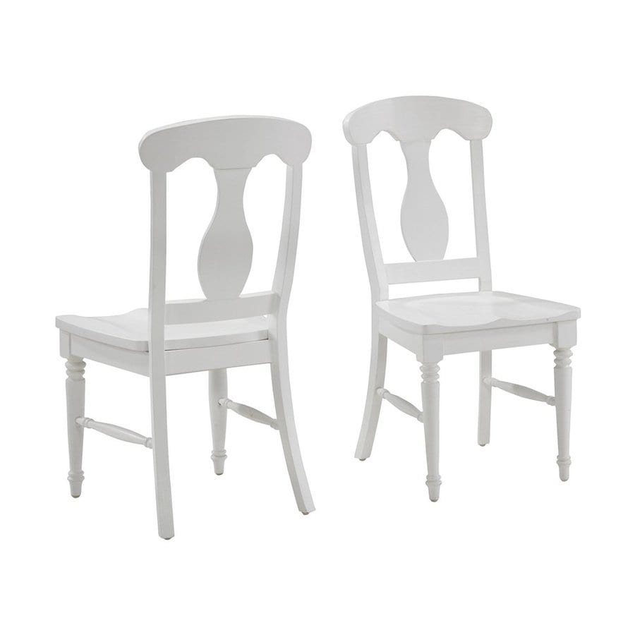 Home Styles 2 Bermuda Brushed White Side Chair
