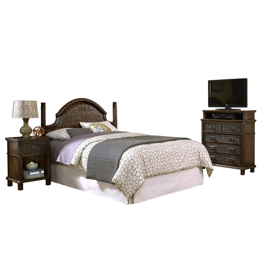 Home Styles Castaway Dark Mahogany King Bedroom Set
