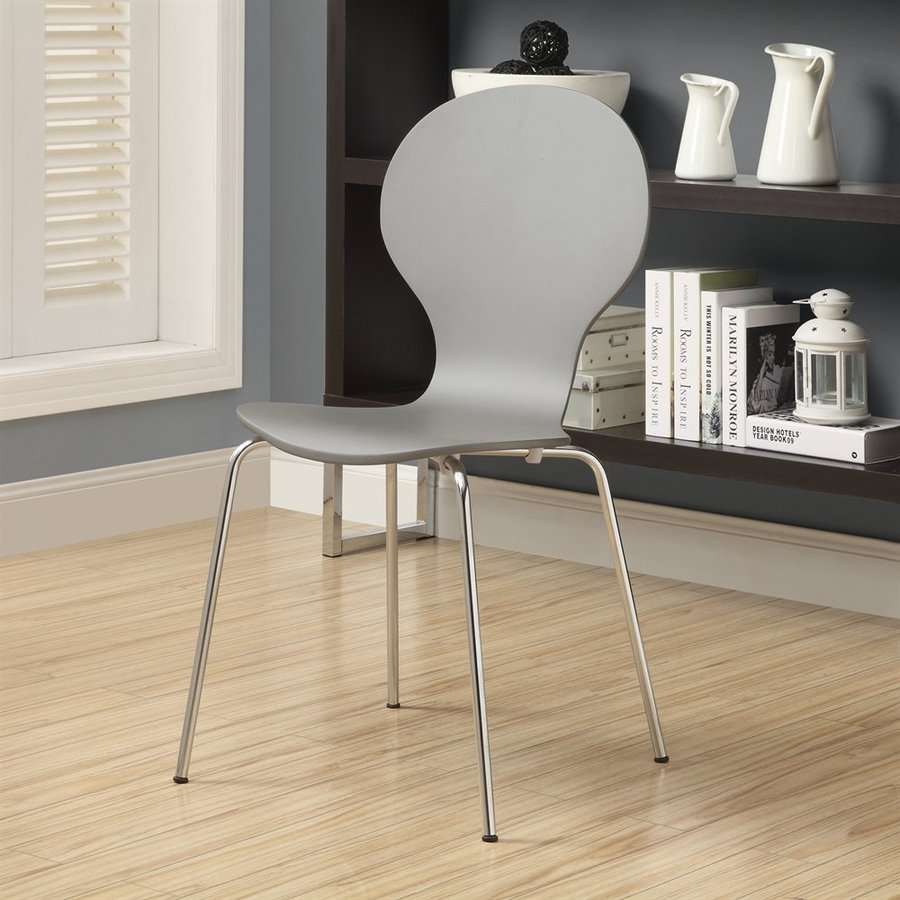 Monarch Specialties Set of 4 Grey Side Chairs
