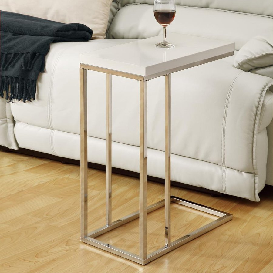 Monarch Specialties White End Table