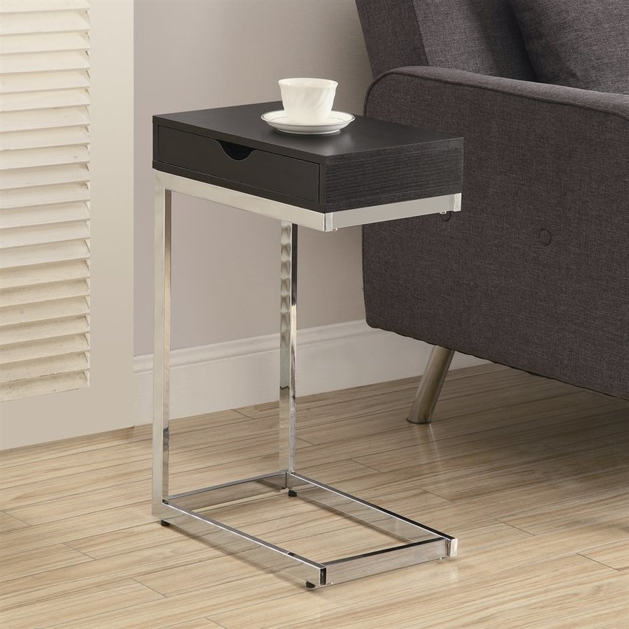 Monarch Specialties Cappuccino Rectangular End Table