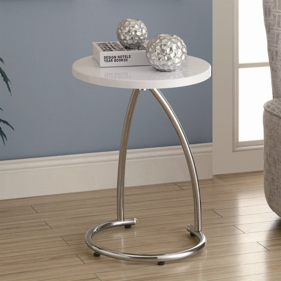 Monarch Specialties White Round End Table