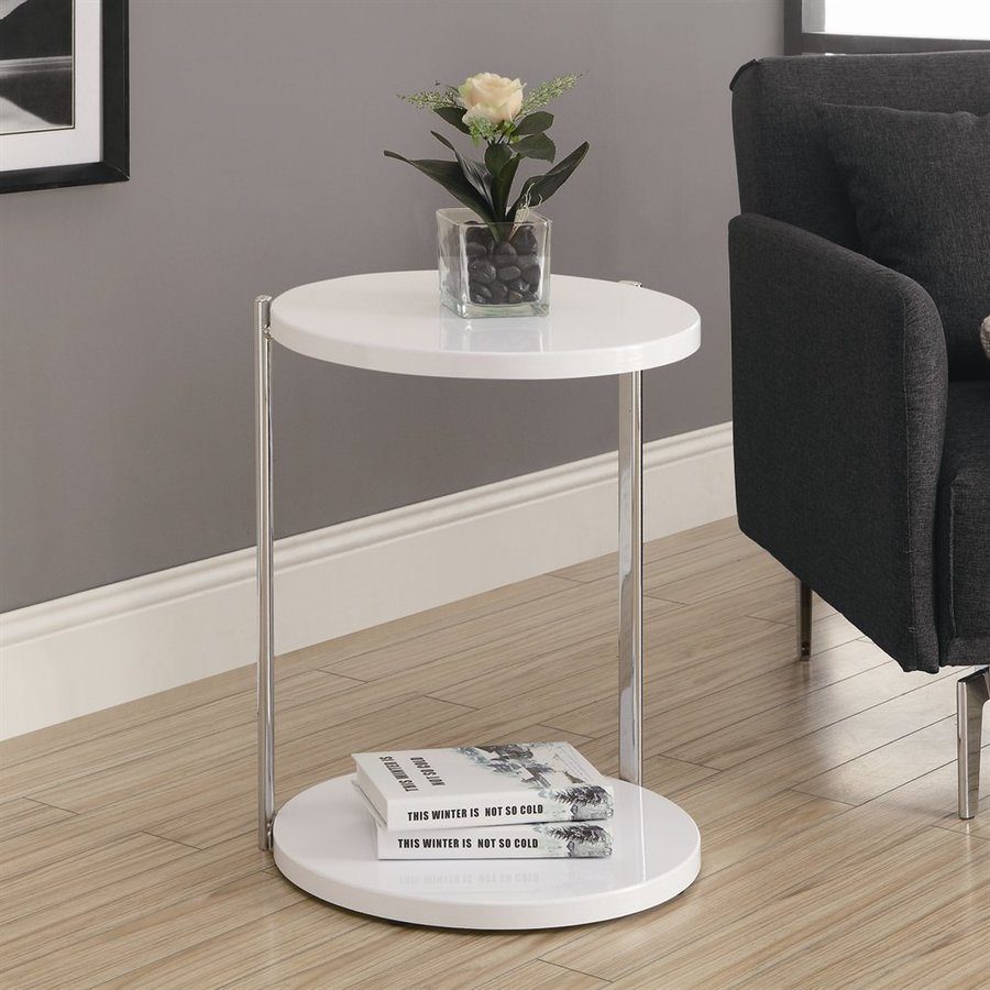 Monarch Specialties White Wood Modern End Table At Lowes.com