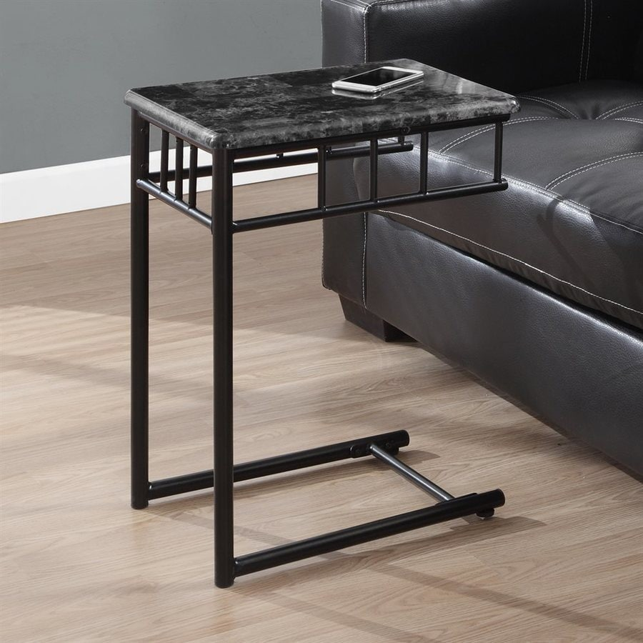 Monarch Specialties Gray Rectangular End Table