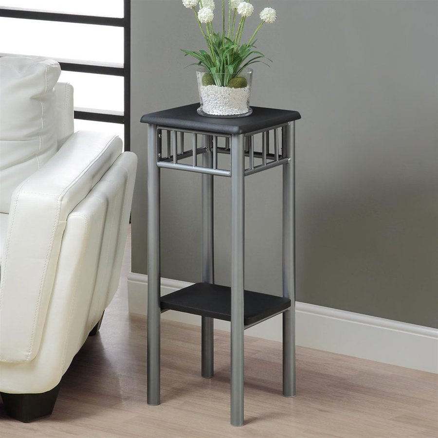 Monarch Specialties 28-in Black Indoor Square Wood Plant Stand