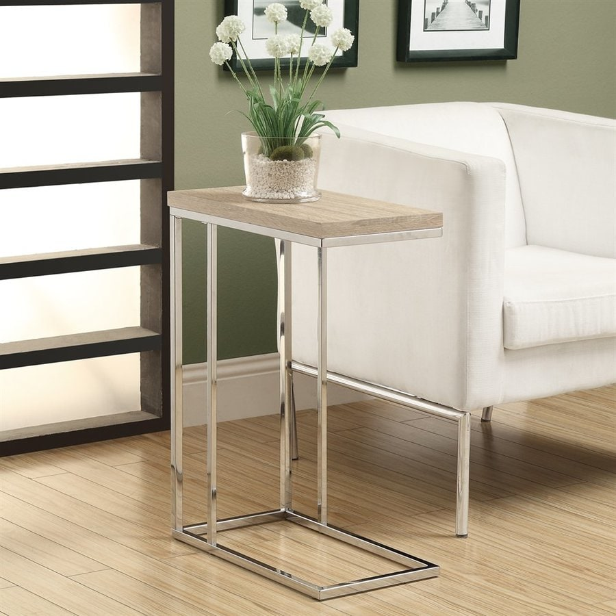 Monarch Specialties Natural Rectangular End Table