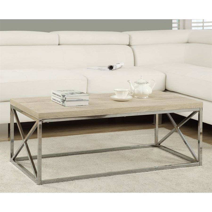 Monarch Specialties Natural Rectangular Coffee Table