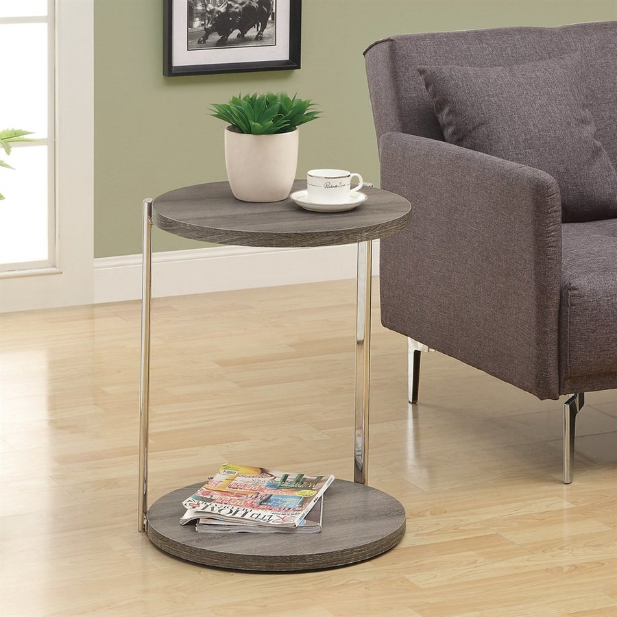 Monarch Specialties Dark Taupe Composite Modern End Table