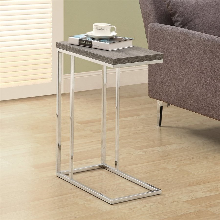 Monarch Specialties Dark Taupe Rectangular End Table