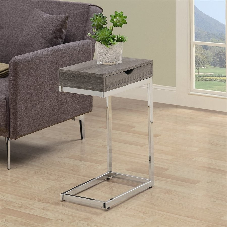 Superbe Monarch Specialties Dark Taupe Composite Modern End Table