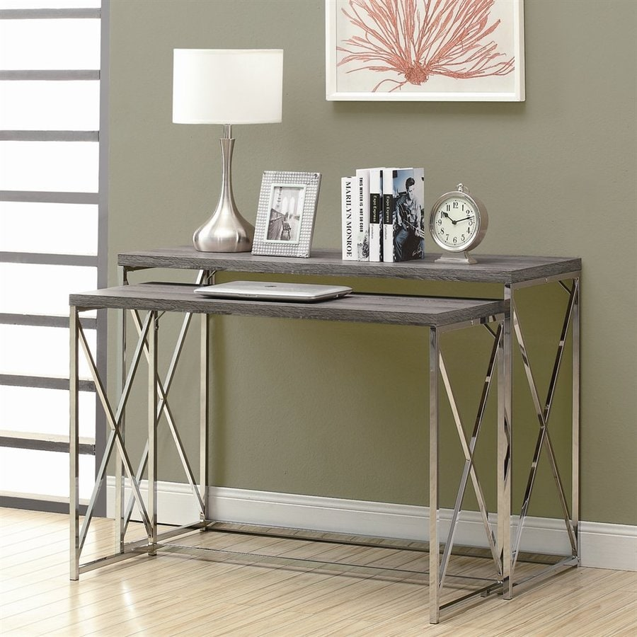 Monarch Specialties Dark Taupe Accent Table Set