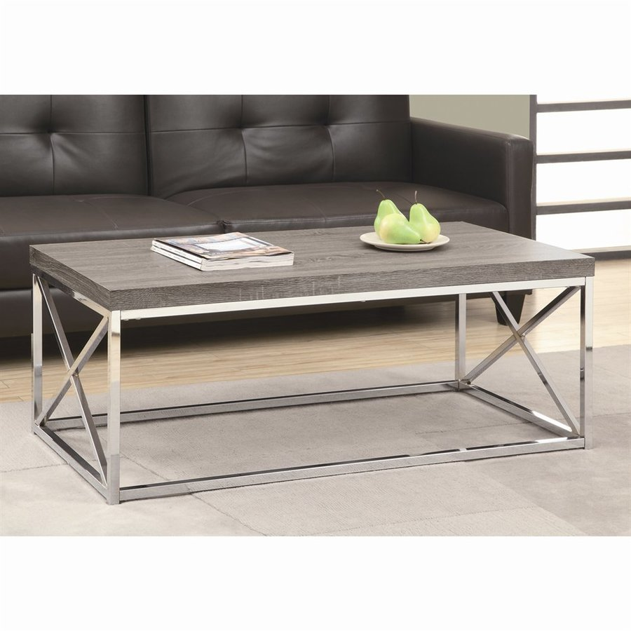 Monarch Specialties Dark Taupe Coffee Table