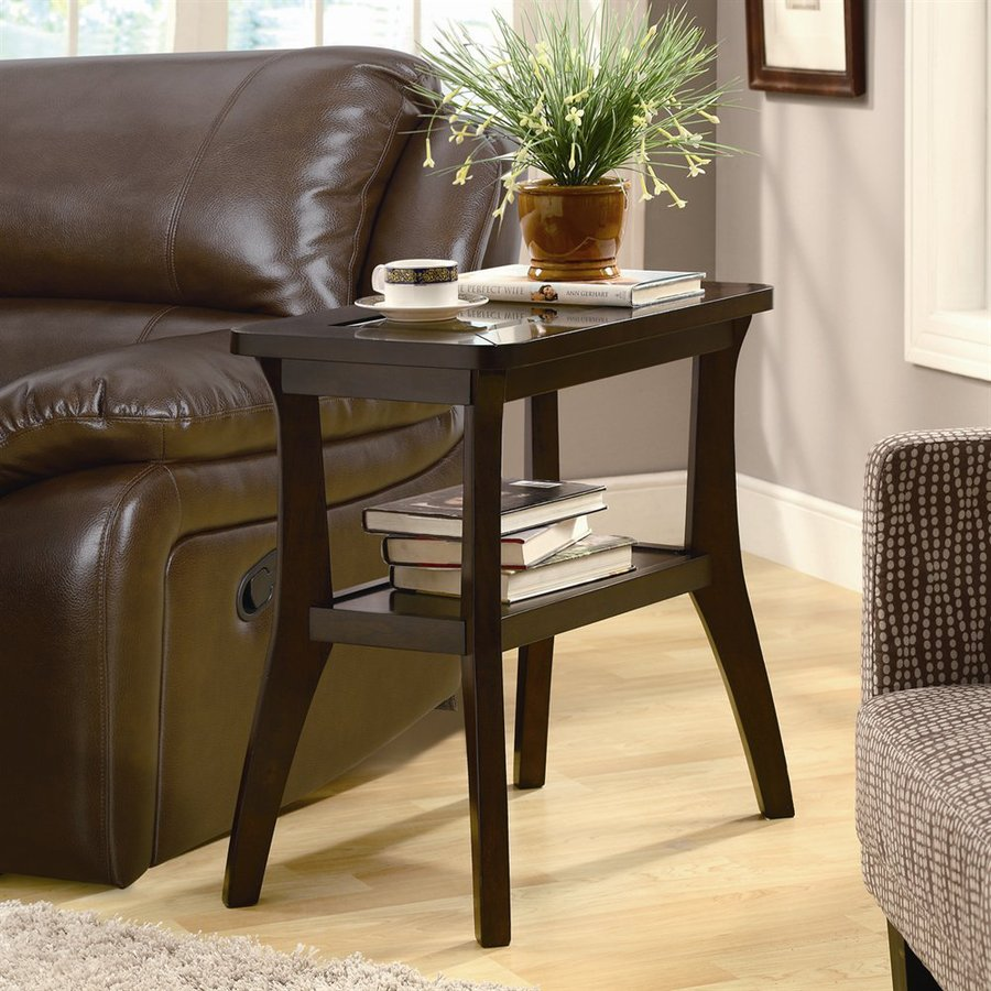 Monarch Specialties Dark Walnut Composite Rectangular End Table