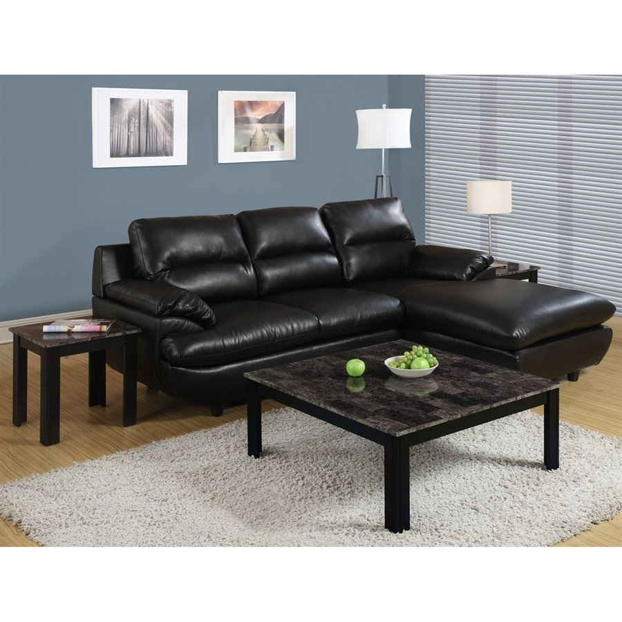 Monarch Specialties 3-Piece Black Accent Table Set
