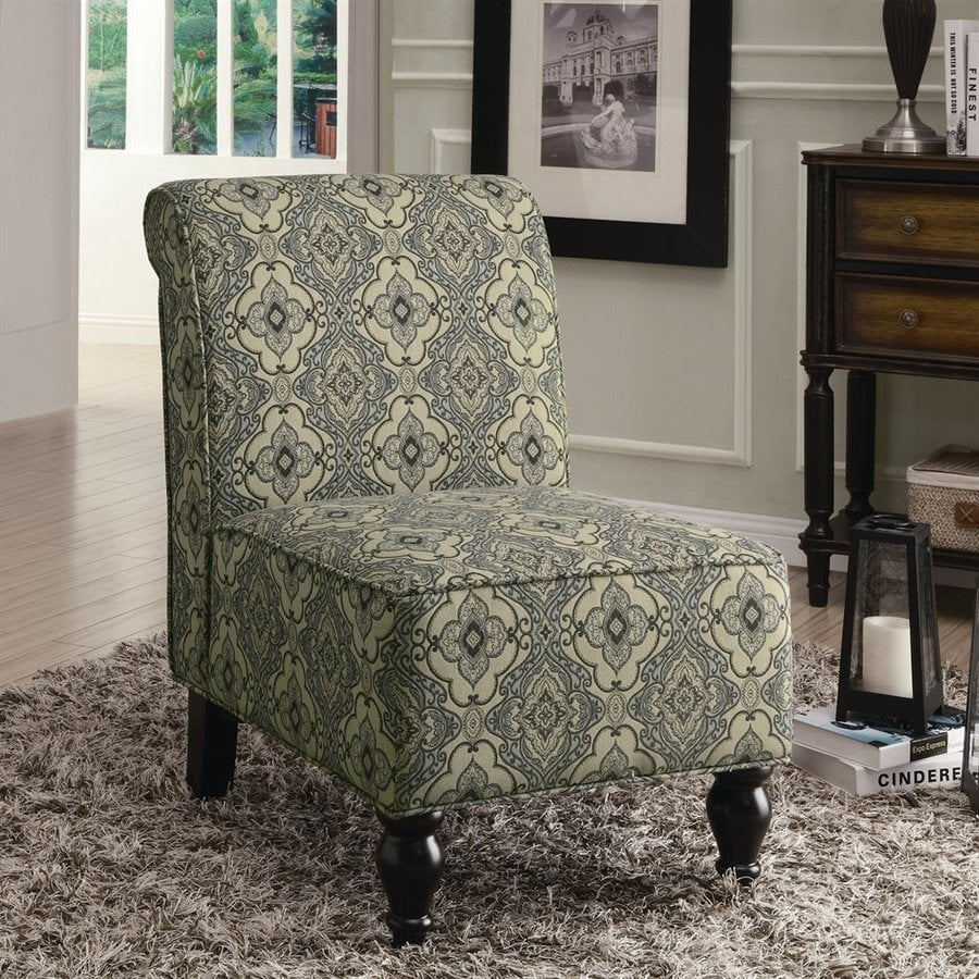 Monarch Specialties Turquoise/Blue Cotton Blend Accent Chair